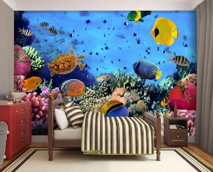 Underwater sea life wallpaper mural